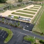 Le cimetière de la Croix Longue vu d'en haut