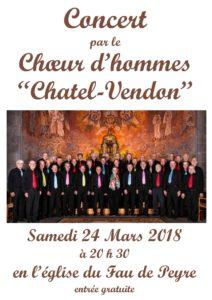 """Choeur d'hommes """"Châtel-Vendon"""""""